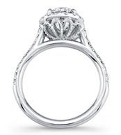 .45 ctw cathedral diamond ring