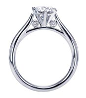 .10 ctw cathedral diamond ring