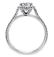 .60 ctw cathedral diamond engagement ring
