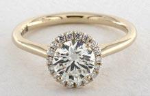 .25 ctw halo set diamond ring