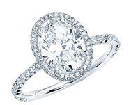 .40 ctw halo set engagement ring