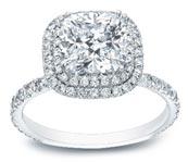 .50 ctw halo set engagement ring