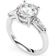 .33 ctw side stone diamond ring