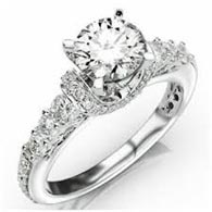 .55 ctw side stone engagement ring setting