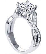 .25 ctw side stone diamond engagement ring