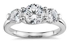 .55 ctw three stone diamond ring