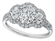 .50 ctw three stone diamond ring setting