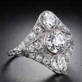 1.3- ctw three stone diamond engagement ring