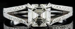 .18 ctw $1700 Split Shank Diamond Ring Setting