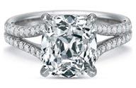 .33 ctw $2100 Split Shank Engagement Ring