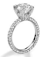 .88 ctw $3200 Pave Diamond Ring Setting