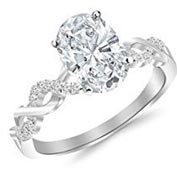 .33 ctw $1600 Pave Engagement Ring Setting