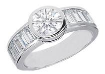 1.00 ctw $5200 Channel Diamond Ring Setting
