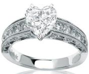 .40 ctw $1400 Channel Engagement Ring Setting