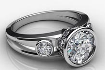 .20 ctw $1650 Bezel Diamond Ring Setting