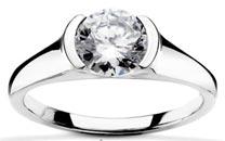 $1050 (setting only) Bezel Engagement Ring
