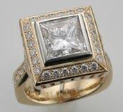 .25 ctw $2350 Bezel Engagement Ring Setting