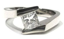 $880 (setting only) Tension Diamond Ring Setting