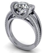 .33 ctw $2250 Tension Set Engagement Ring