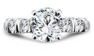 .25 ctw $2100 Bar Diamond Ring Setting