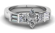 .50 ctw $3200 Bar Setting Engagement Ring