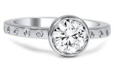 .20 ctw $1800 Gypsy flush Diamond Ring Setting