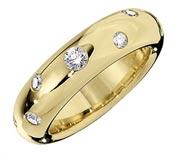 .30 ctw $2050 Gypsy flush Engagement Ring
