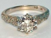 $1350 (setting only) Filigree Diamond Ring Setting