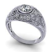 .20 ctw $2450 Filigree Engagement Ring Setting