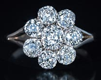 .70 ctw $3800 Cluster Engagement Ring