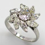 .40 ctw $2300 Cluster Engagement Ring Setting
