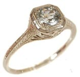 $1300 (setting only) Vintage Style Engagement Ring
