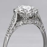 .18 ctw $1900 Antique Style Engagement Ring Setting