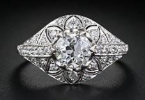 .33 ctw $2150 Edwardian Era Diamond Ring Setting
