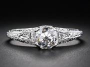 $1100 (setting only) Edwardian Era Engagement Ring