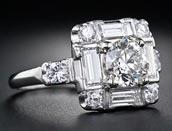 1.20 ctw $4800 Art Deco Diamond Ring Setting