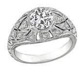 .25 ctw $2100 Art Deco Engagement Ring Setting