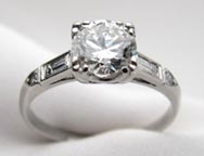 .30 ctw $2100 Mid Century  Engagement Ring