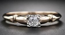 $900 (setting only) Mid Century  Engagement Ring Setting