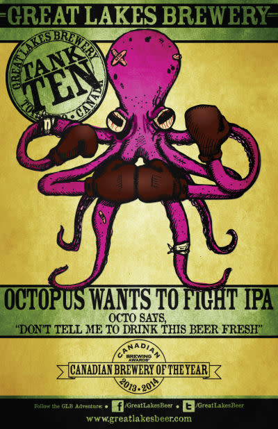 Great Lakes Brewery Octopus Wants to Fight IPA • RateBeer