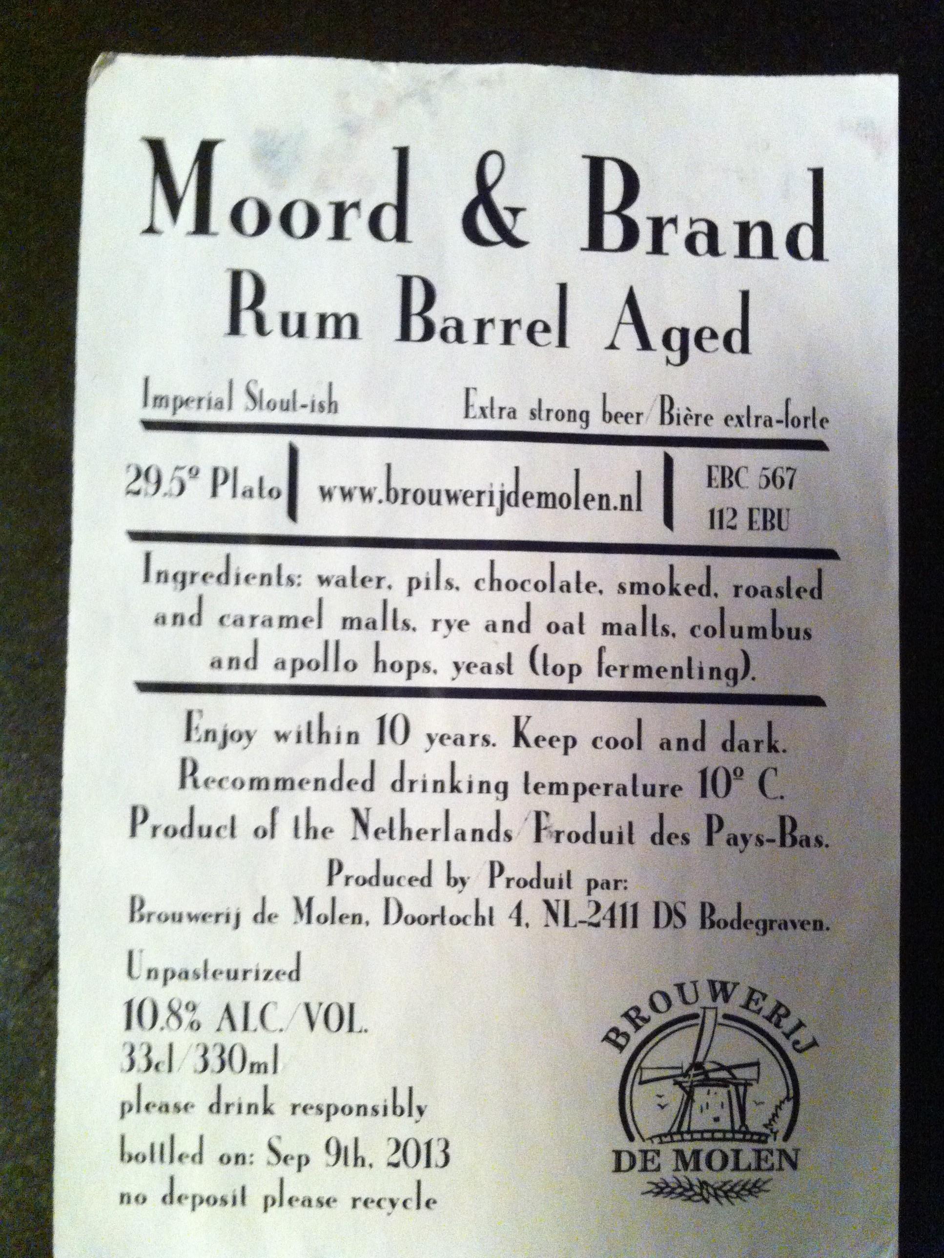 De Molen Moord & Brand (High Ester Rhum)