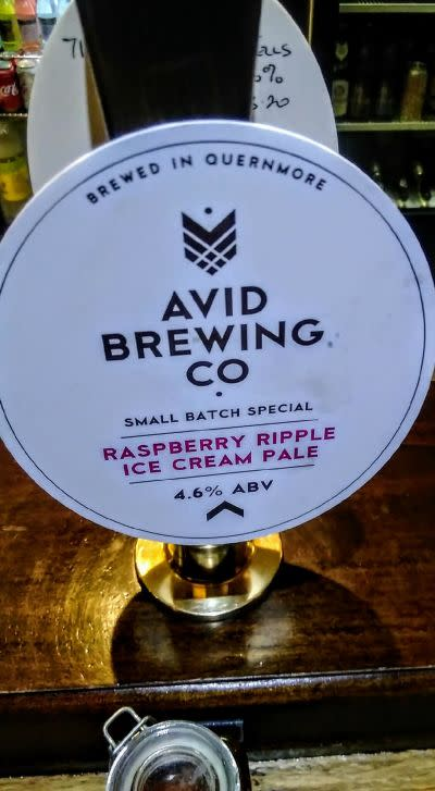 Image result for Avid - Raspberry Ripple Ice Cream Pale Ale png