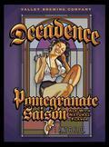 Valley Brew Decadence Pomegranate Saison