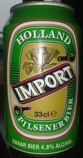 Holland Import Pilsener Bier