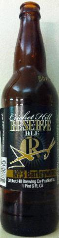 Cricket Hill Brewmaster's Reserve Bourbon Barrel Aged Barleywine