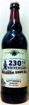 Natty Greene's 230th Anniversary Oak Aged American Sour Ale