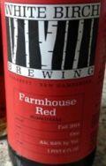 White Birch Farmhouse Red