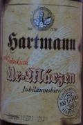 Hartmann Ur-Märzen (Jubiläumsbier)