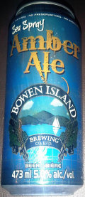 Bowen Island Sea Spray Amber Ale