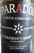 Paradox Beer Ol Drowsy's Madman - Colorado Farmhouse Saison